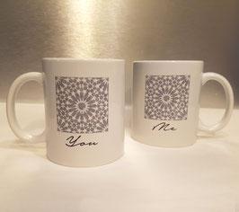 Mugs en céramique Me and You, silver