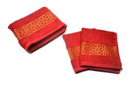 Pack serviettes brodées Zellij, rubis et or