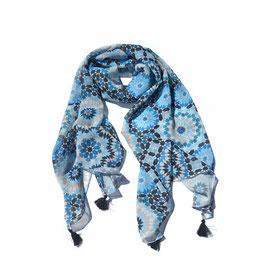 Foulard Fraicheur d'Orient, bleu