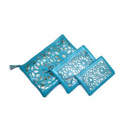 Pochettes Zellij, bleu