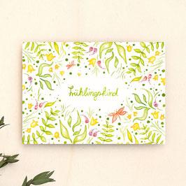 Postkarte Frühlingskind