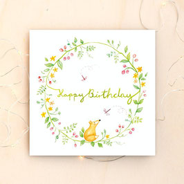 """Klappkarte """"Happy Birthday"""""""