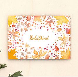 Postkarte Herbstkind