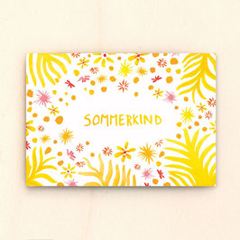 Postkarte Sommerkind