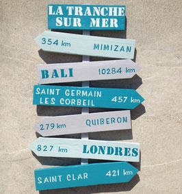 """Panneau directionnel personnalisable """"La Tranche"""""""