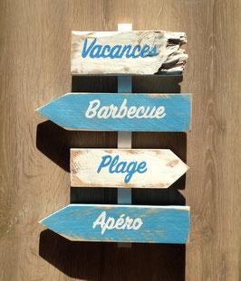 """Panneau de direction personnalisable """"Barbecue"""" outremer poncé"""