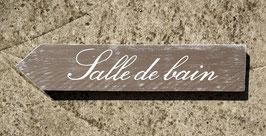 "Flèche personnalisable ""sdb"" taupe patiné"