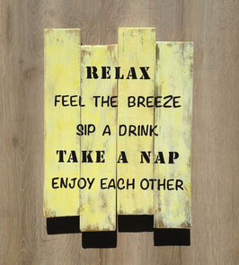 "Tableau personnalisable ""relax"" jaune"