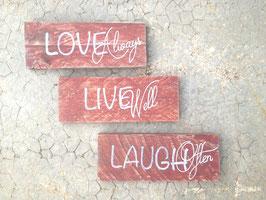 "Pancarte personnalisable ""love always"""