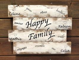 """Tableau personnalisable """"Family 2"""" blanc poncé"""