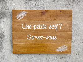 "Mariage, tableau ""Soif"" bois"