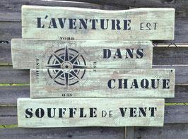 """Tableau personnalisable """"aventure"""" vert poncé"""