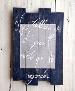 """Tableau """"Picasso"""" marine et gris vieilli"""