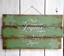 Décoration de Noël, personnalisable, tableau vert en bois de palette