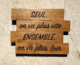 """Tableau personnalisable """"ensemble"""" bois"""