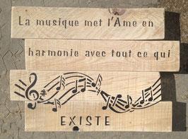 """Tableau personnalisable """"musique"""" bois"""