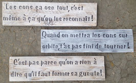 """Pancarte personnalisable """"citations d'Audiard"""""""