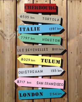 """Panneau directionnel personnalisable """"Cherbourg"""""""