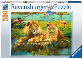 Ravensburger Puzzle - Löwen in der Savanne - 500 Teile