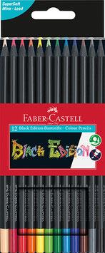 Black Edition  Buntstifte  3 Größen 12er-24er-36er