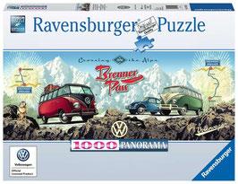 Ravensburger Puzzle - Mit dem VW Bulli über den Brenner - 1000 Teile