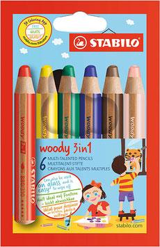 Stabilo woody 3 in 1   2 Varianten 6er 10 er