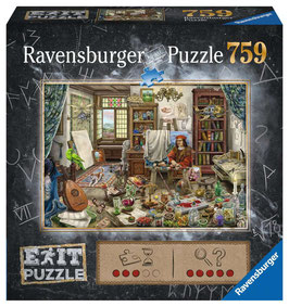 Ravensburger Puzzle - Exit Das Künstleratelier 759p - 759 Teile
