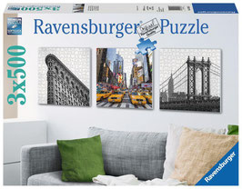Ravensburger Puzzle New York City Impressionen, 3 x 500 Teil