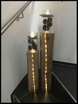 Alt-Holz Säulen 100cm + 70cm