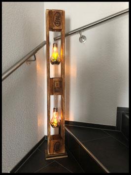 Träger mit Glühbirnen
