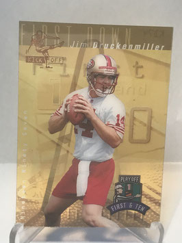 Jim Druckenmiller (49ers) 1997 Playoff First & Ten Kickoff #JIDR