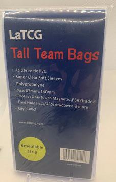 LaTCG Team Bags, Bags für Magnethalter und PSA Graded Cards geeignet! Wiederverschliessbar, 100 Stück