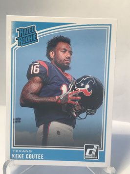 Keke Coutee (Texans) 2018 Donruss Rated Rookie #326