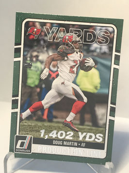 Doug Martin (Buccaneers) 2016 Donruss Production Line Yardage #2