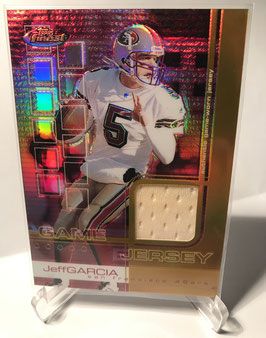 Jeff Garcia (49ers) 2002 Finest Game Jersey Gold Refractor #64