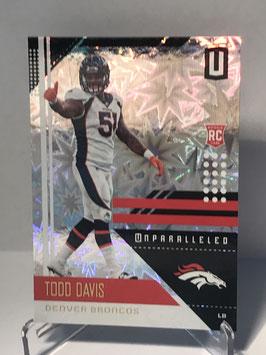 Todd Davis (Broncos) 2018 Panini Unparalleled Impact #61