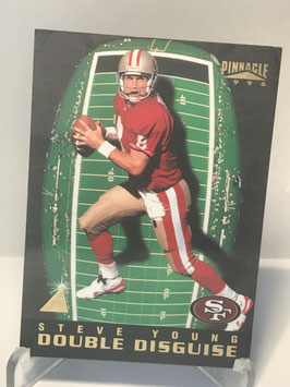Steve Young/ Brett Favre (49ers/ Packers) 1996 Pinnacle Double Disguise #18