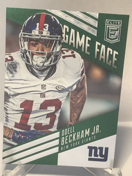 Odell Beckham Jr. (Giants) 2016 Donruss Elite Game Face Green #GF-OB
