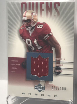 Terrell Owens (49ers) 2002 Upper Deck Graded Jersey Silver #G2-TO