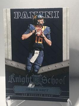 Jared Goff (Cal/ Rams) 2016 Panini Knight School #1