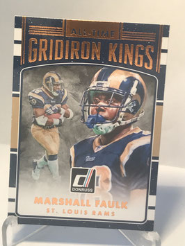 Marshall Faulk (Rams) 2016 Donruss All-Time Gridiron Kings #6