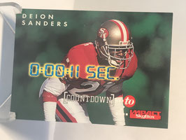 Deion Sanders (49ers) 1995 Skybox Impact Countdown to Impact #C10