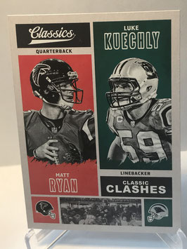 Matt Ryan/ Luke Kuechly (Falcons Panthers) 2017 Panini Classics Classic Clashes #CC-MRLK