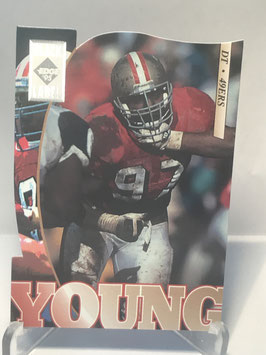 Bryant Young (49ers) 1995 Collector's Edge Black Label Silver Die Cuts #182