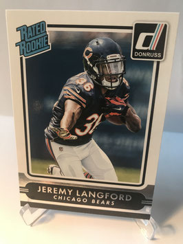 Jeremy Langford (Bears) 2015 Donruss Rated Rookie #231