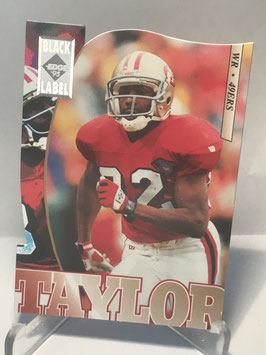 John Taylor (49ers) 1995 Collector's Edge Black Label Silver Die Cuts #180