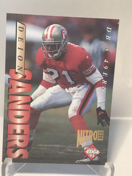 Deion Sanders (49ers) 1995 Collector's Edge 22k Nitro #178