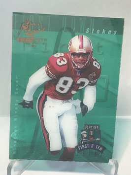 JJ Stokes (49ers) 1997 Playoff First & Ten Kickoff #JJST