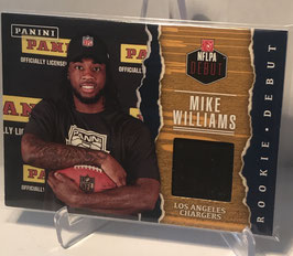 Mike Williams (Chargers) 2017 Panini Father's Day NFLPA Rookie Debut Memorabilia #MW