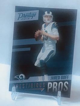 Jared Goff (Rams) 2019 Prestige Prestigious Pros #PP-JG